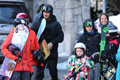 贝克汉姆一家去滑雪