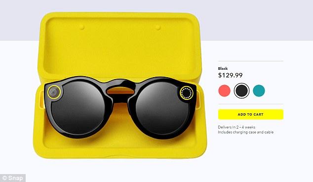 Snapchat智能眼镜可在线购买 售价129美元