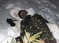 罗马尼亚陆军侦察兵演练雪夜暗杀