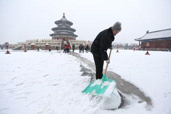 北京迎来首场春雪