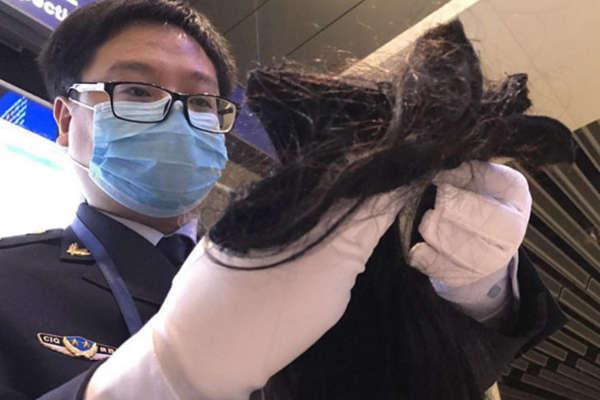 外籍旅客带半斤头发到西安 下飞机就被查扣