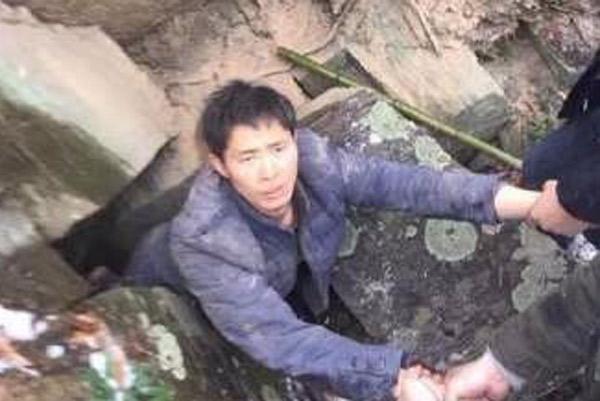 男子杀害两姐妹后藏山洞被抓