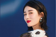 徐悦登杂志公开早春妆容