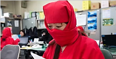 日本公务员穿忍者服上班
