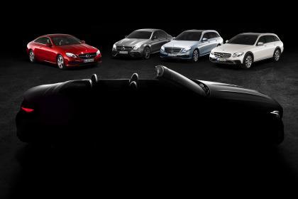 奔驰E级四座敞篷车预告图公布 日内瓦车展全球首秀