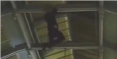 英醉酒男子爬7米屋顶 不料失手跌下幸大难不死