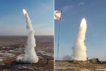 俄军连续发射12枚S400导弹