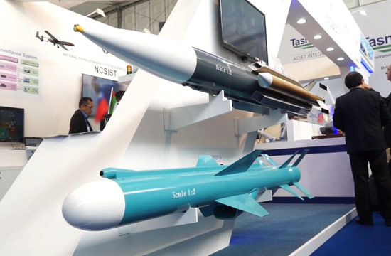 中东防展上台湾叫卖雄风3导弹