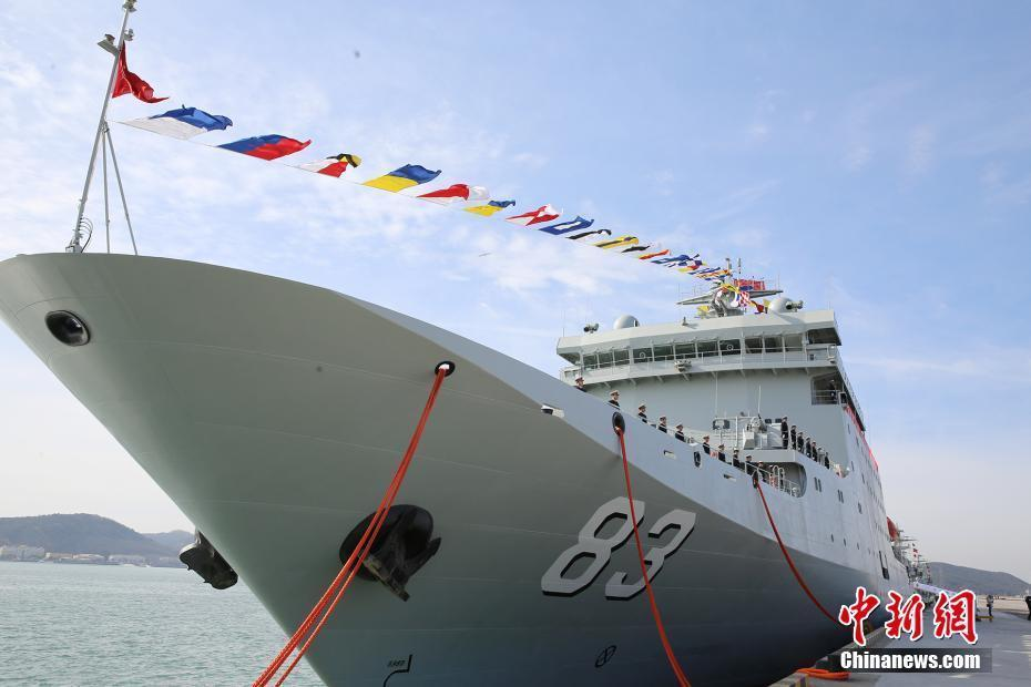 外媒:戚继光号训练舰彰显中国世界级海军雄心
