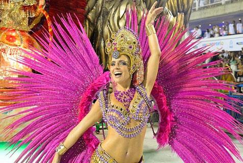 巴西圣保罗狂欢节色彩缤纷展南美风情
