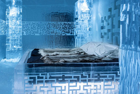 瑞典冰雪旅馆室温零下5度配特制羽绒服