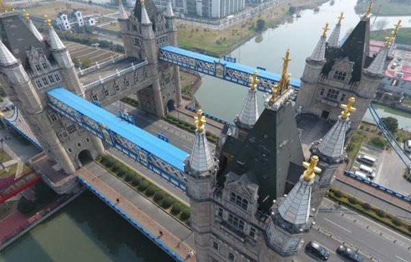 """苏州惊现山寨""""伦敦塔桥"""":比真的更宏伟"""