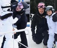 小贝带女儿外出滑雪 获小七索吻温馨满满