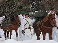 罗军冰天雪地演习仍然使用马匹