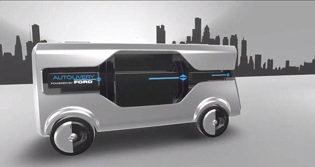 福特展示未来货运理念 无人驾驶车/无人机协同合作