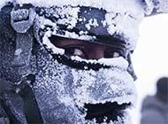 美空降兵极寒训练被雪覆盖