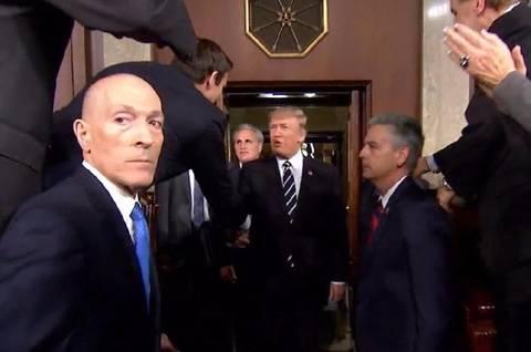 特朗普发表首次国会演讲现场图片 16553 480x318