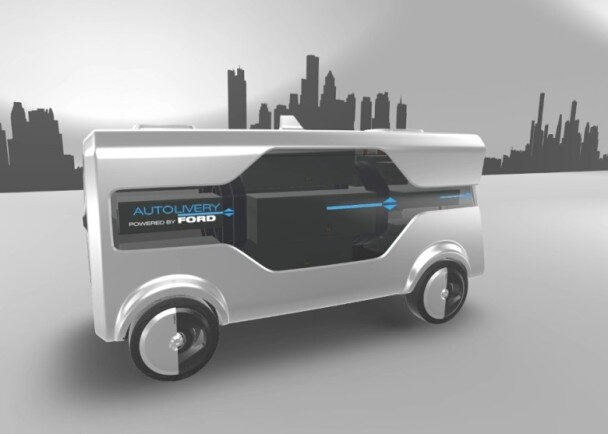 福特研发无人车加无人机的送货系统 可替代快递员
