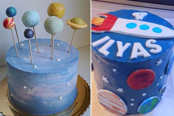 """有才!澳母亲自制""""银河""""主题蛋糕走红网络"""