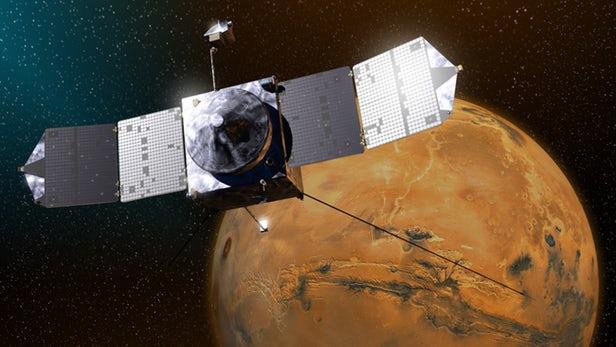 """火星探测器MAVEN需要""""加大油门"""" 避免与火卫一相遇"""