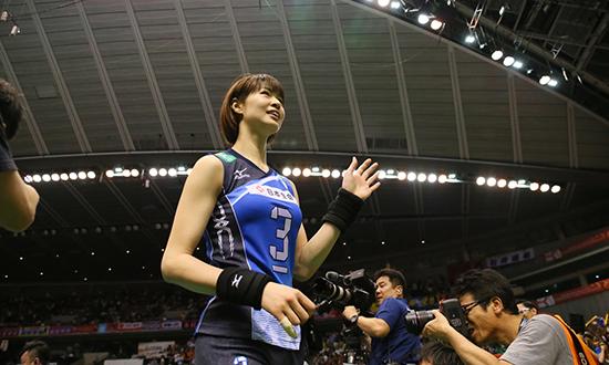 木村纱织告别战受伤下场 日本第一排球美女退役