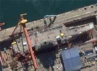 国产航母卫星图曝光 甲板很整洁