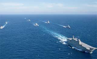 澳西北风两栖舰军演崭露头角