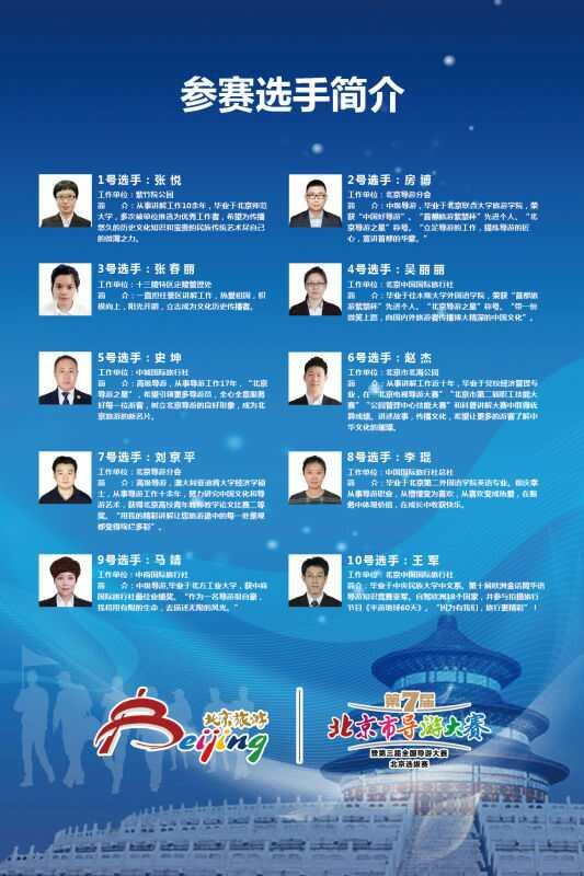 第七届北京导游大赛暨全国北京选拔赛成功举办