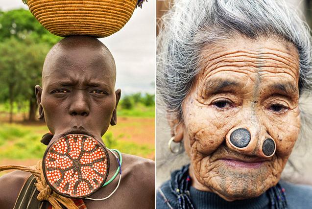 骇人习俗!古老部落土著极限改造人体