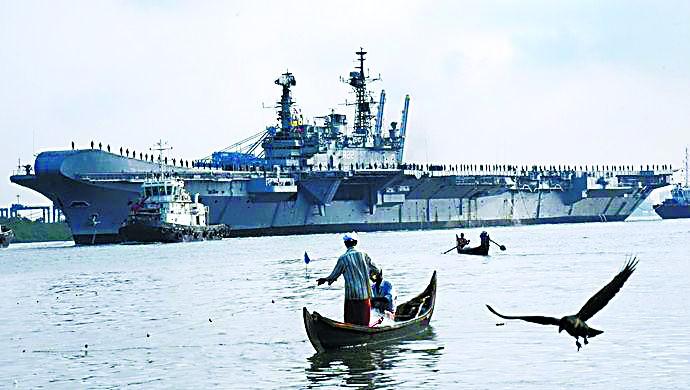 印度58岁老航母昨日退役了 曾是亚洲最强航母
