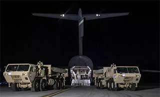 萨德系统已抵达韩国乌山基地