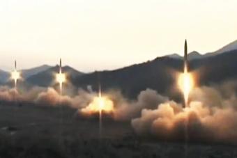朝鲜齐射4枚导弹视频曝光