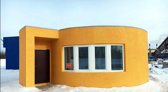 美初创公司用3D打印技术24小时打印一栋房子