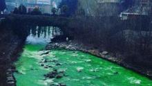 西班牙河流一夜变绿 当地官员:河水不是污染