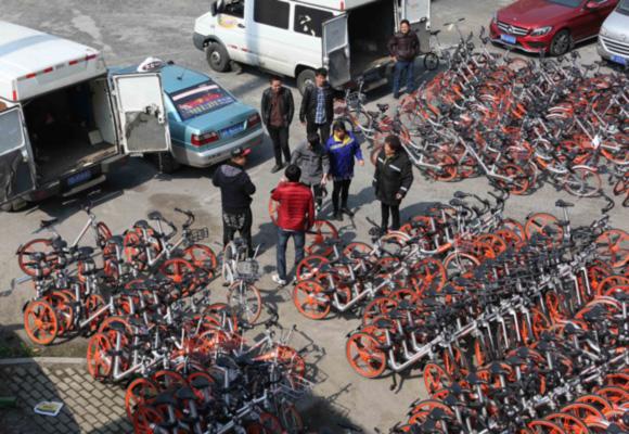 上海近5000辆被扣共享单车获释