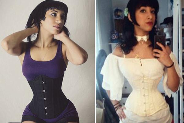 美女子13岁起穿紧身衣治脊椎 塑造46厘米细腰
