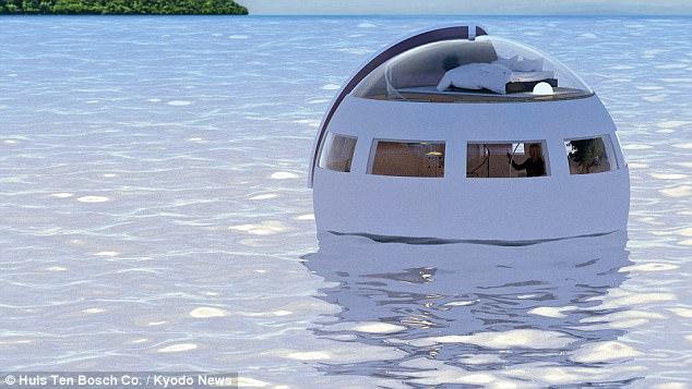 日本主题公园推出睡眠胶囊 游客可一夜漂到无人岛