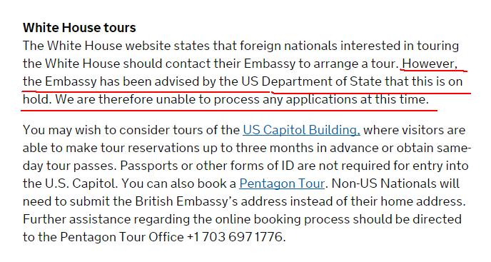 """英媒:美国对外开放白宫 英国人想参观却遭""""禁止"""""""