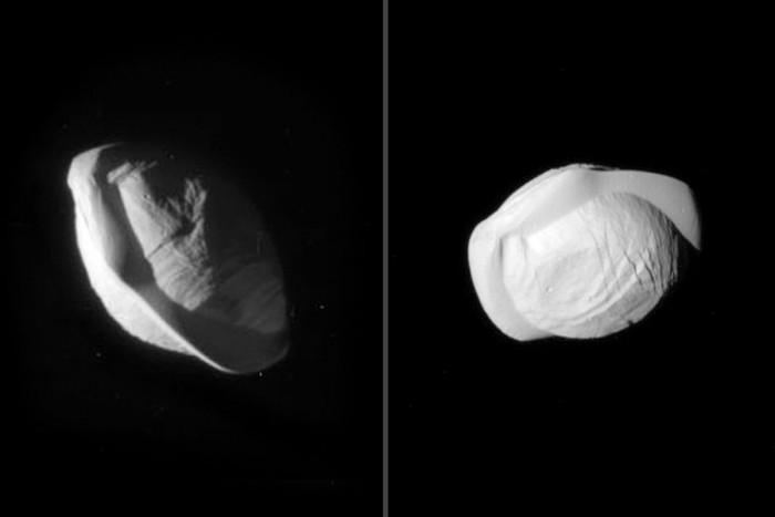 像意大利方饺:NASA公布土卫十八怪异外形超清图像
