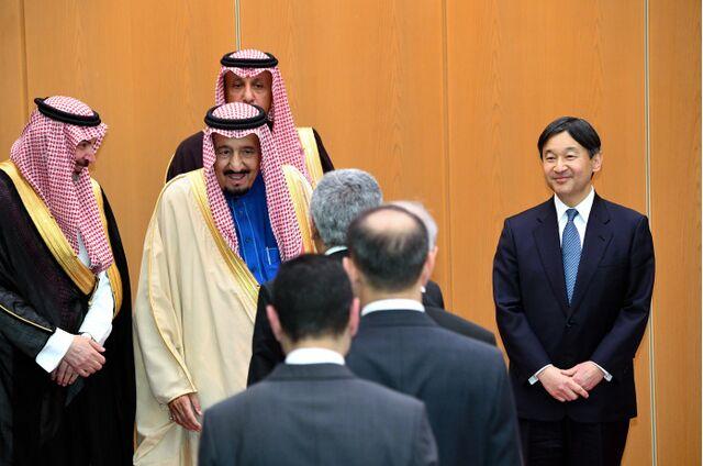 沙特国王抵达东京阵势浩大 拟15日起访华