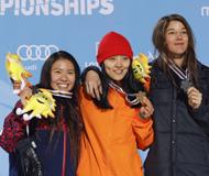 单板滑雪U型池世锦赛 蔡雪桐卫冕