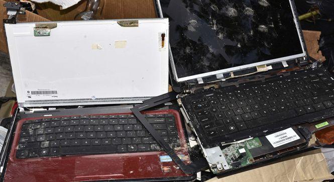 朝鲜驻马使馆门口发现数台被弃电脑 硬盘不知所踪