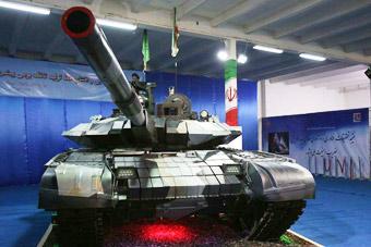 伊朗造出山寨版T-90坦克 外形更加科幻