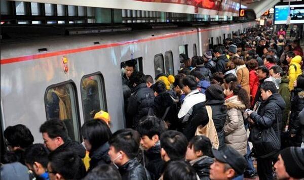 北京地铁全球最挤:单日客流超春运全国总和