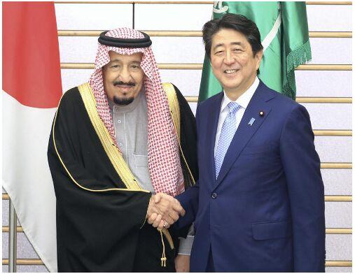 安倍与沙特国王会谈 签署《日本与沙特愿景2030》文件