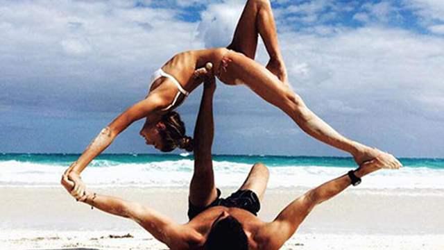 惊!美女演绎高难度瑜伽