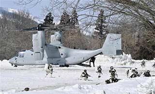 4架MV22参加美日联合军演
