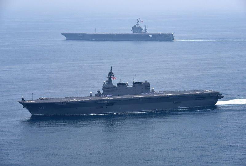 日准航母赴南海或与美携手发难 中国应划下红线