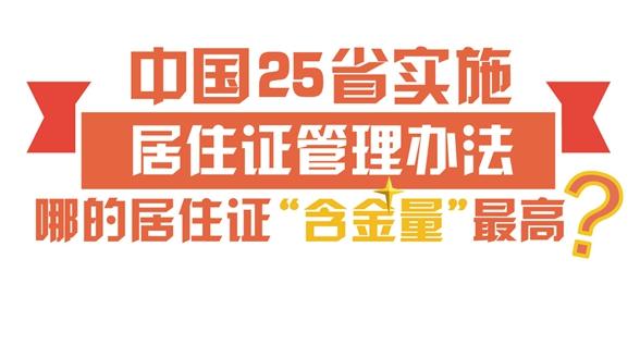 """25省实施居住证管理办法,哪里的""""含金量""""最高?"""