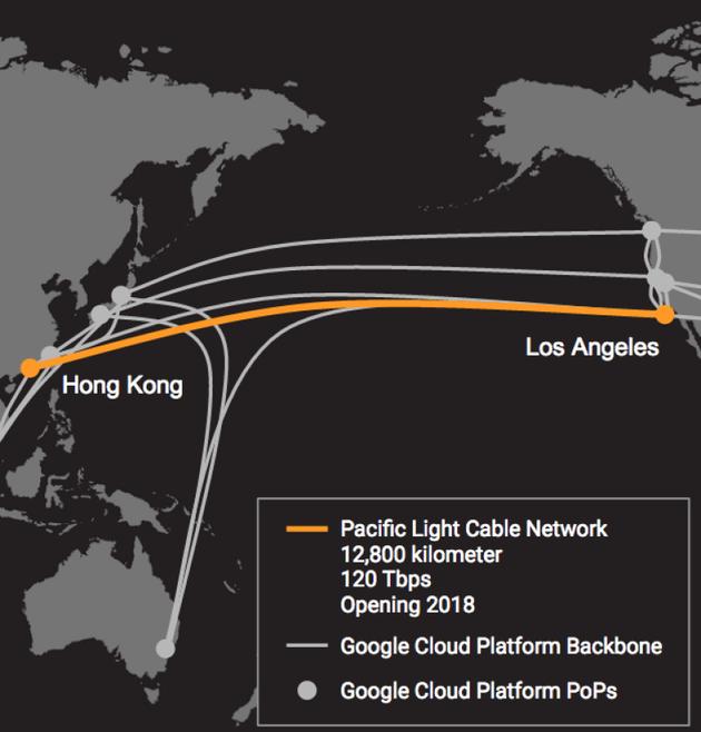 """赞助商希望太平洋海底光缆项目在2018年年底投入运营。韦振宇表示,韦俊康名下公司太平洋光缆数据通讯有限公司(Pacific Light Data Communication Co.)将持有该项目60%权益,而谷歌和Facebook将分别持有20%权益。该项目成本估计为5亿美元,该中资公司已聘请美国承包商TE SubCom制造并铺设这条直径17毫米、全长7,954英里的海底光缆。 # E"""" g2 ?"""